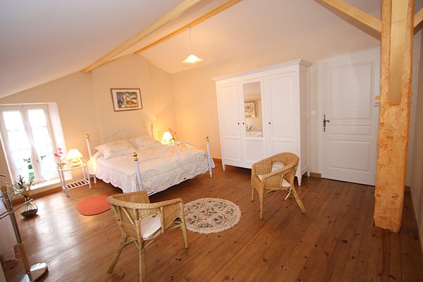 Very spacious room in this charming gite