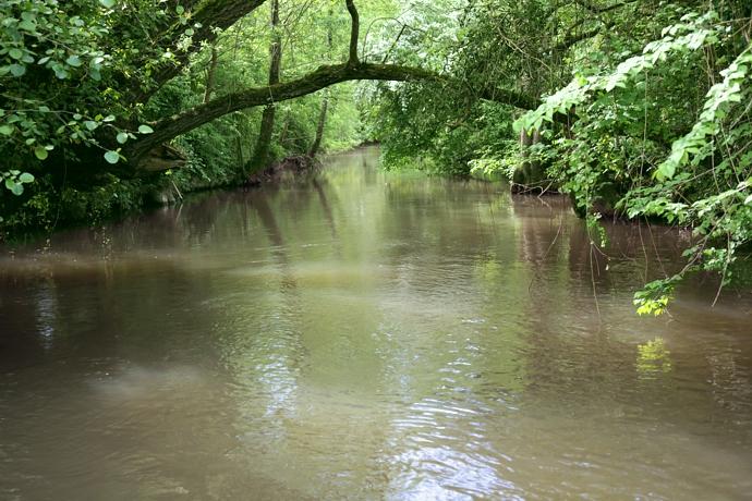 Gite de peche a côté de la rivière