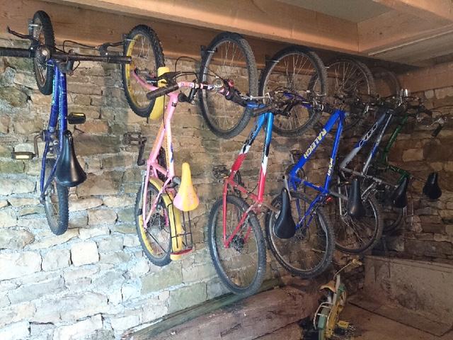Vélos inclus dans la prestation.